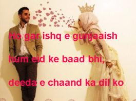 शबनमी बूदों से ख़लल होती है romantic shayari,