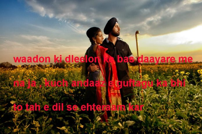 वादों की दलीलों के बस दायरे में न जा urdu love ,