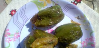 stuffed capsicum, bharwa shimla mirch healthy indian recipe,
