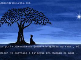 urdu spiritual quotes in hindi ख़ाक मिटटी का बना पुतला ताउम्र जाने किस गुमान में रहा ,