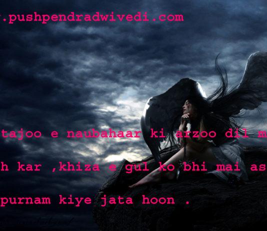 dark life quotes in hindi जुस्तजू ए नौबहार की आरज़ू दिल में रख कर ,